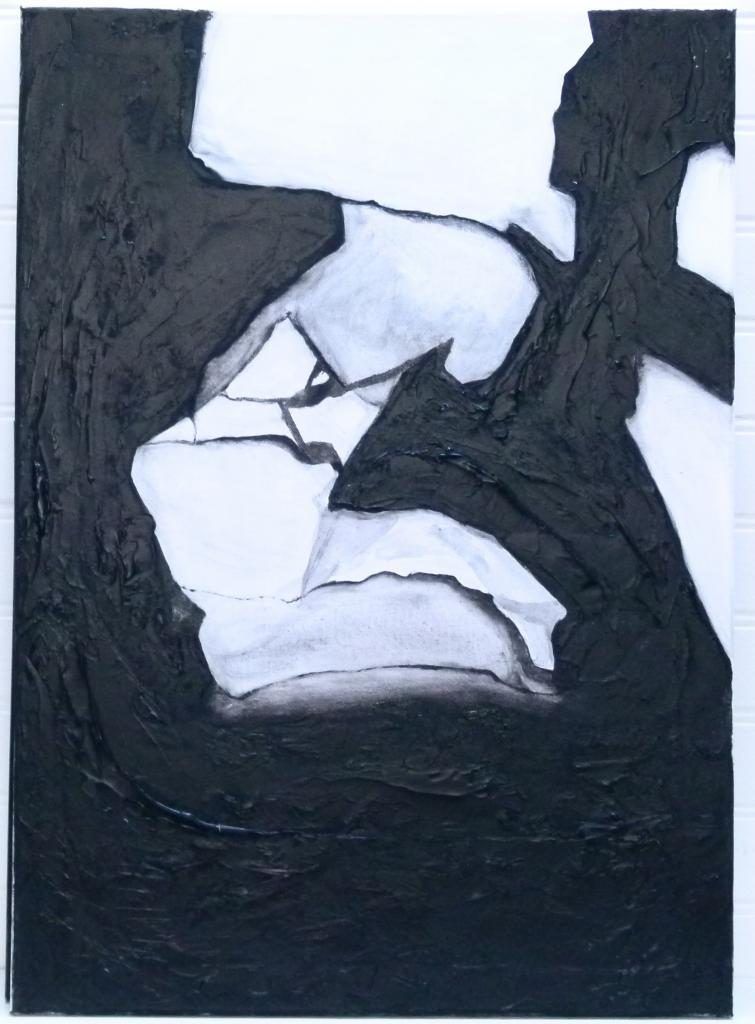 D chirure acrylique et polym re vernis sur toile 50 x 70 - Vernis sur peinture acrylique ...