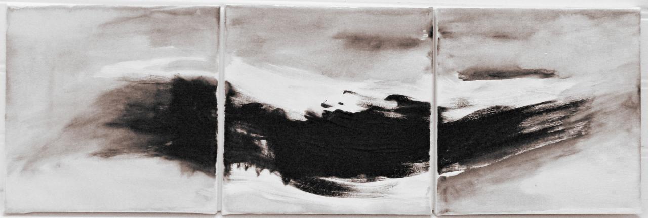 Ph m re tryptique acrylique vernis sur toile 60 x 20 - Vernis sur peinture acrylique ...